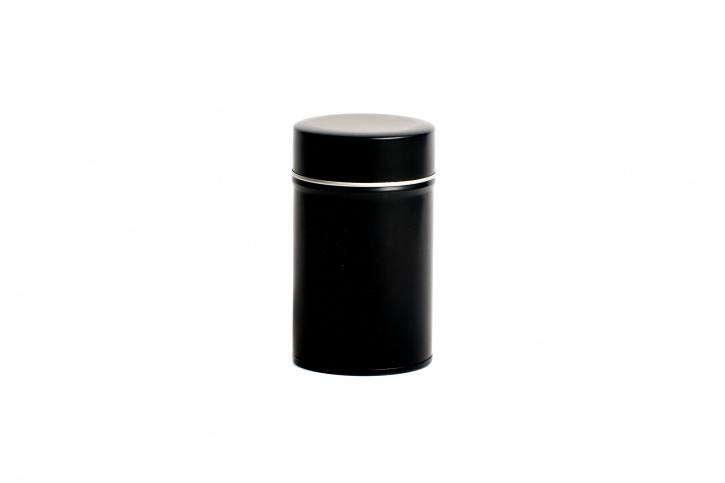 Runde Teedose - Kräuterdose schwarz