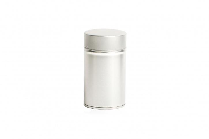 Runde Teedose - Kräuterdose silber