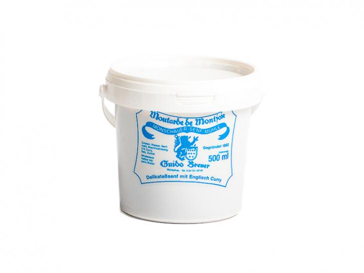 Englisch Curry Senf - Monschauer Senf - Moutarde de Montjoie - 500 ml