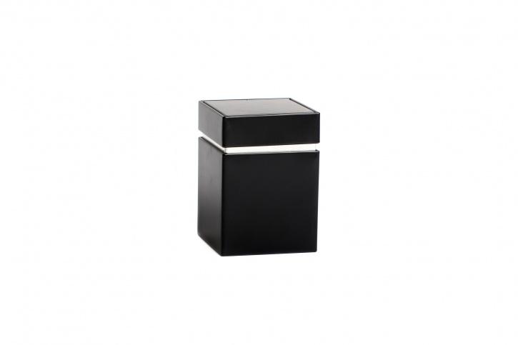 Quadratische Teedose - Kräuterdose schwarz