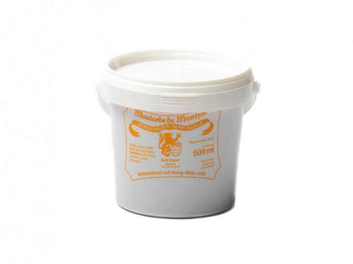 Honig-Mohn-Senf - Monschauer Senf - Moutarde de Montjoie - 500 ml