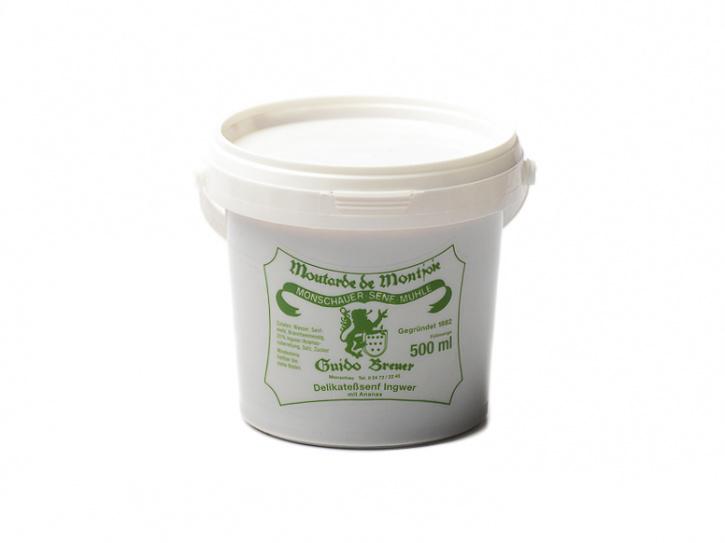 Ingwer-Ananas-Senf - Monschauer Senf - Moutarde de Montjoie - 500 ml