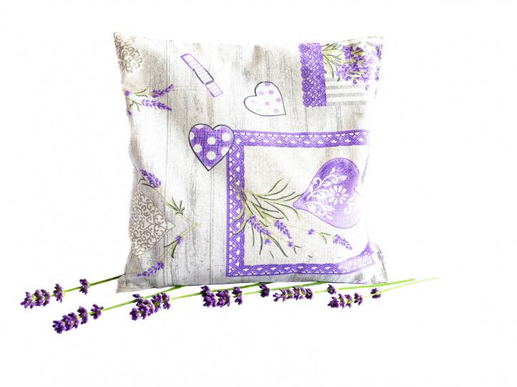 Lavendelkissen grau - handgenäht
