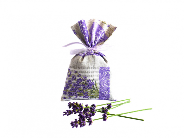 Lavendelsäckchen grau - handgenäht 1 Stück