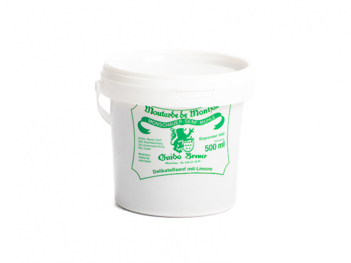 Limonen-Senf - Monschauer Senf - Moutarde de Montjoie - 500 ml