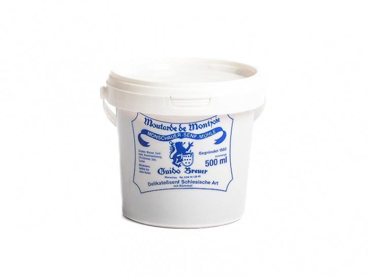 Schlesische Art mit Kümmel - Monschauer Senf - Moutarde de Montjoie - 500 ml