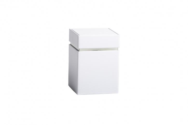 Quadratische Teedose - Kräuterdose weiß