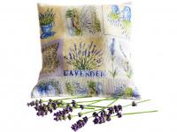 Lavendelkissen beige - handgenäht