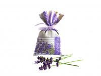 Lavendelsäckchen grau - handgenäht