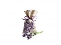 Lavendelsäckchen grau-beige - handgenäht